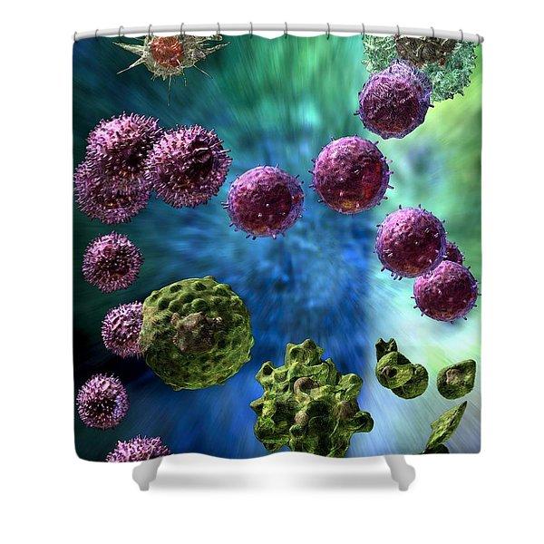 Immune Response Cytotoxic 3 Shower Curtain