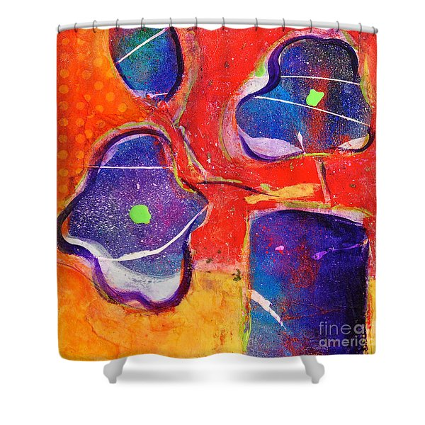 In Full Bloom Sunset Colors Shower Curtain