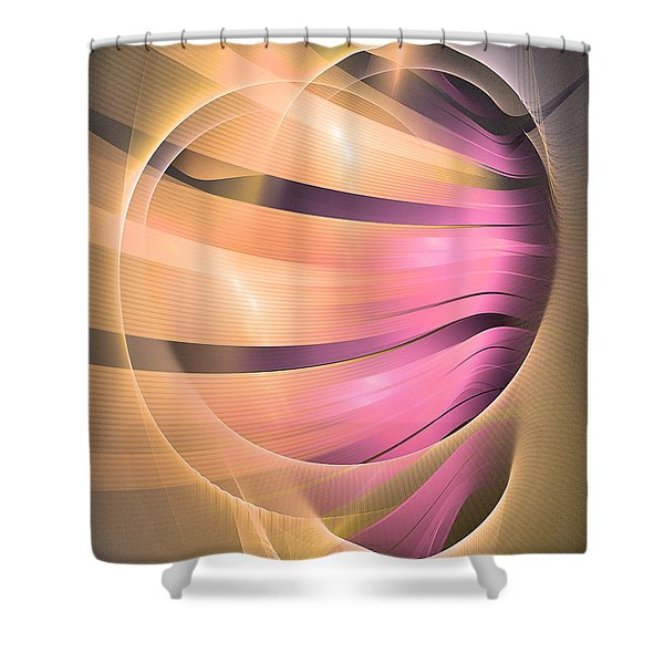 In Medias Res -abstract Art Shower Curtain