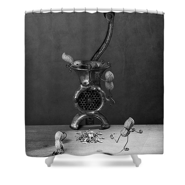 In The Meat Grinder 02 Shower Curtain