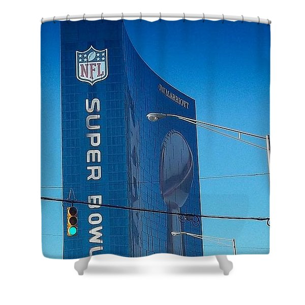 Indianapolis Marriott Welcomes Super Bowl 46 Shower Curtain