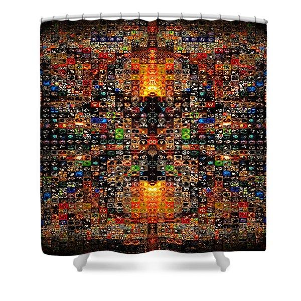 Infinity Mosaic Warm Shower Curtain