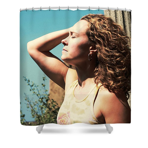 Shower Curtain featuring the photograph Into The Sun by Lorraine Devon Wilke