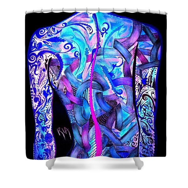 Intricate Woman Shower Curtain