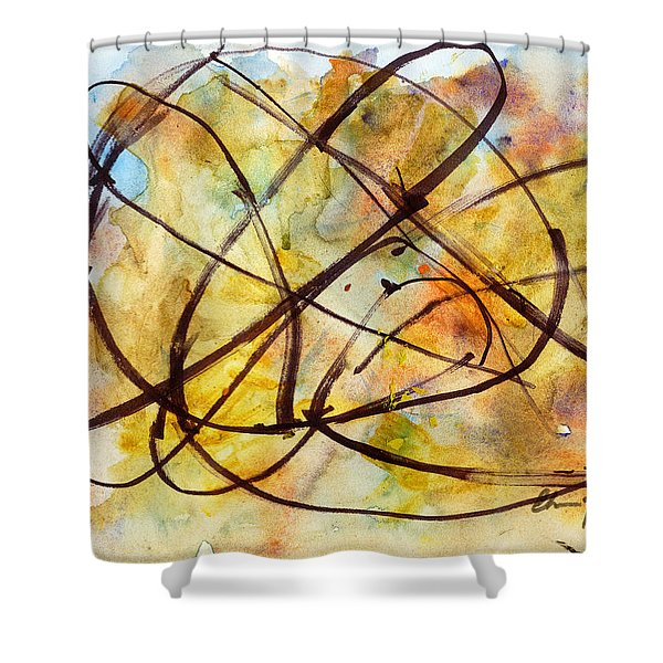 Inverno Abstract Watercolor Shower Curtain