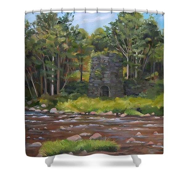 Iron Furnace Of Franconia New Hampshire Shower Curtain