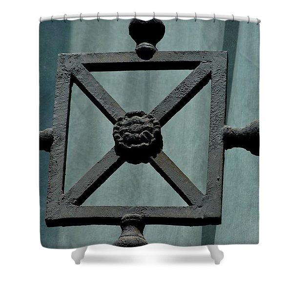 Iron Work Shower Curtain