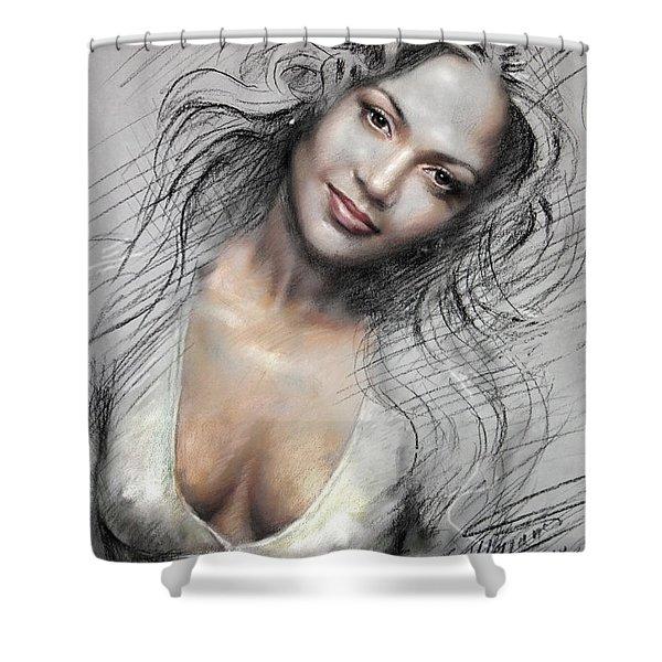 J L0 Shower Curtain