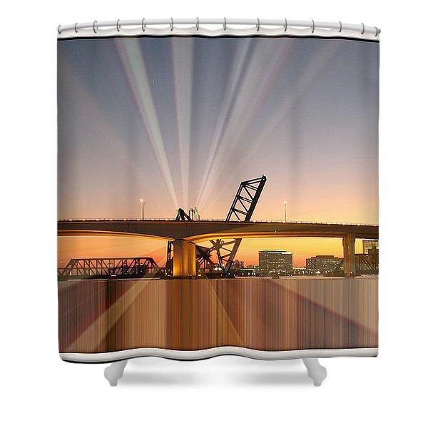 Jacksonville Rays Shower Curtain