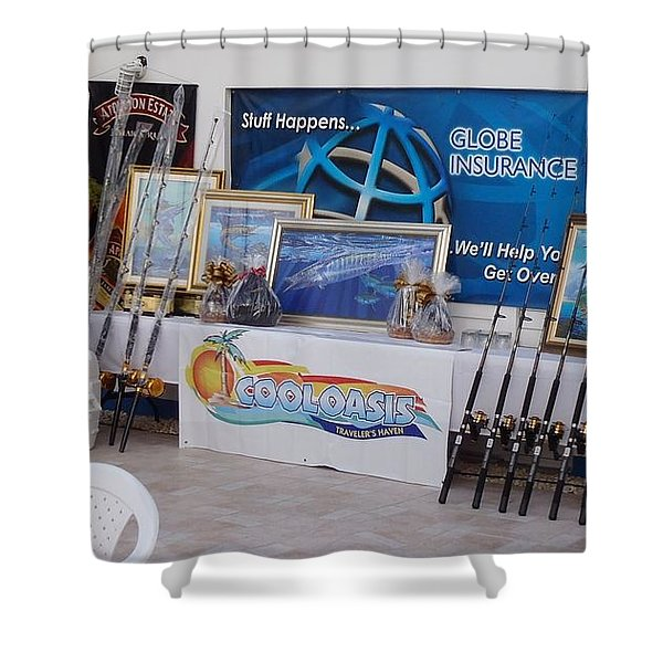Jamaica Tournament Trophies Shower Curtain