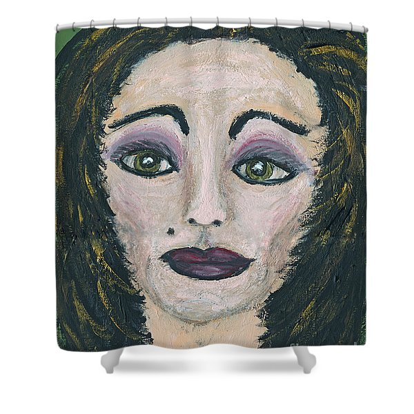 Jane Not Plain Shower Curtain