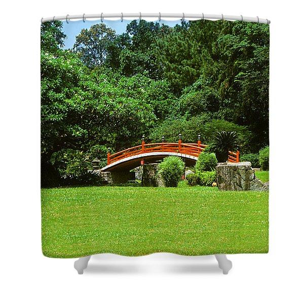 Japanese Garden Bridge 21m Shower Curtain