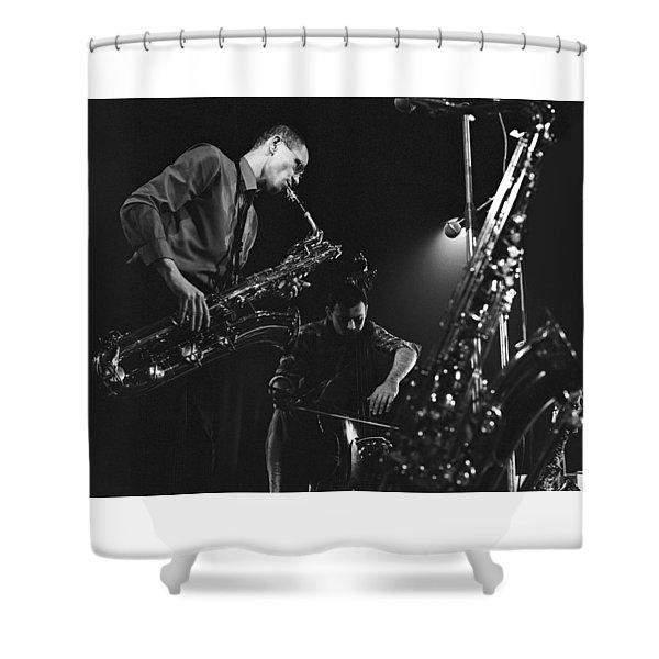 Jazz Scene Shower Curtain