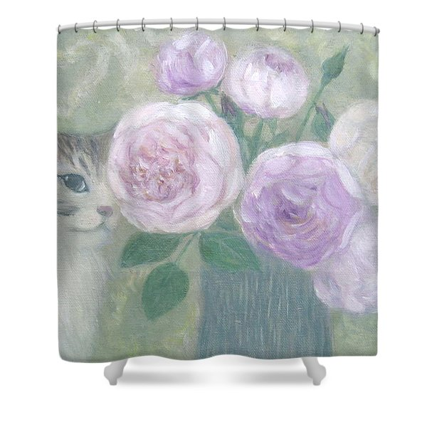 Jill And Roses Shower Curtain