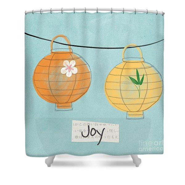Joy Lanterns Shower Curtain