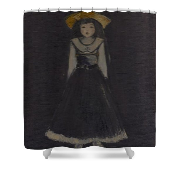 Shower Curtain featuring the painting Just A Beautiful Country Girl... by Laurie Lundquist