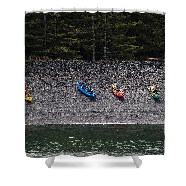 Kayak Shore Shower Curtain