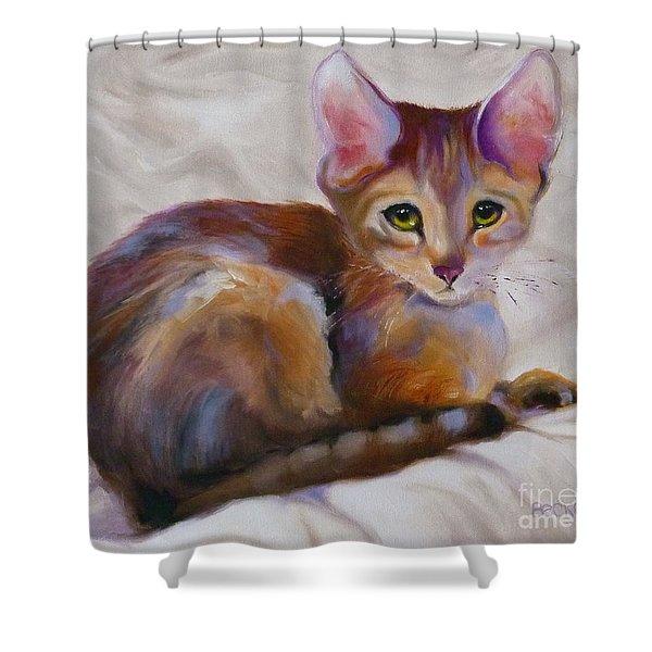 Kitten Princess Shower Curtain