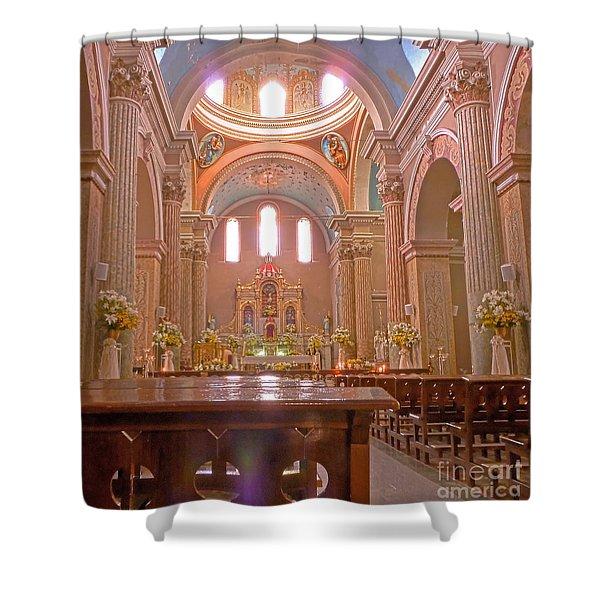 La Iglesia Matriz De Sangolqui Ecuador Shower Curtain