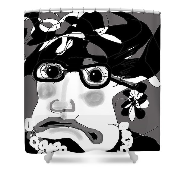 Lady Millicent Was Not To Be Outdone In The Crazy Hat Department Shower Curtain