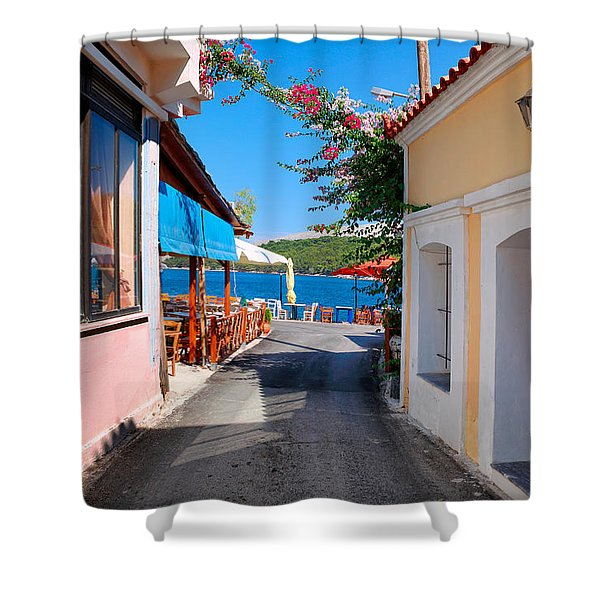 Lagada Chios Greece  Shower Curtain