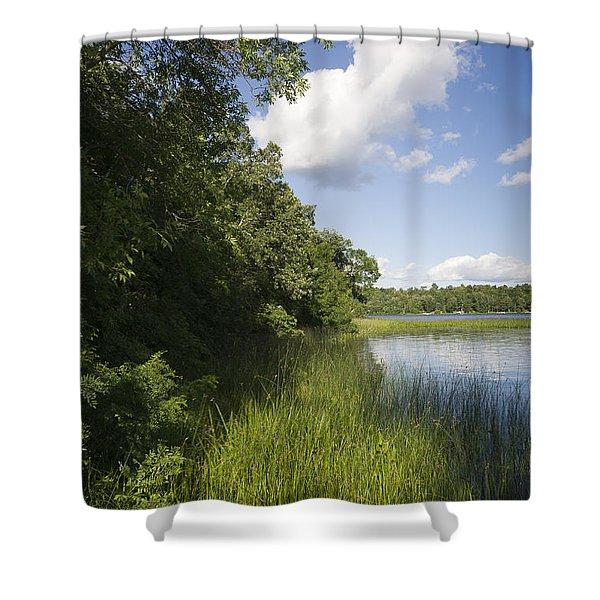 Lake Shore Shower Curtain