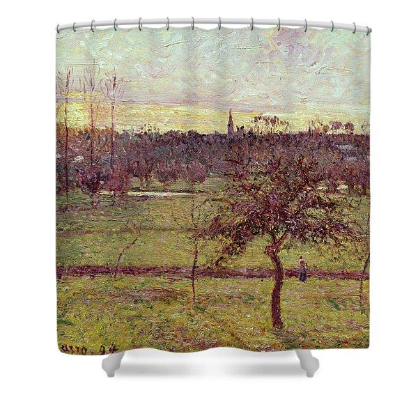 Landscape At Eragny Shower Curtain