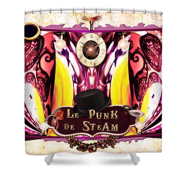 Le Punk De Steam Shower Curtain