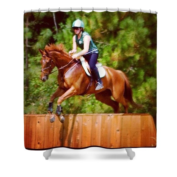 Leap Of Faith - Chrissy Porter And Andy Shower Curtain