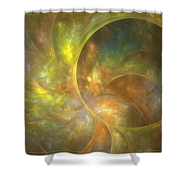 Life Of Leaf - Abstract Art Shower Curtain