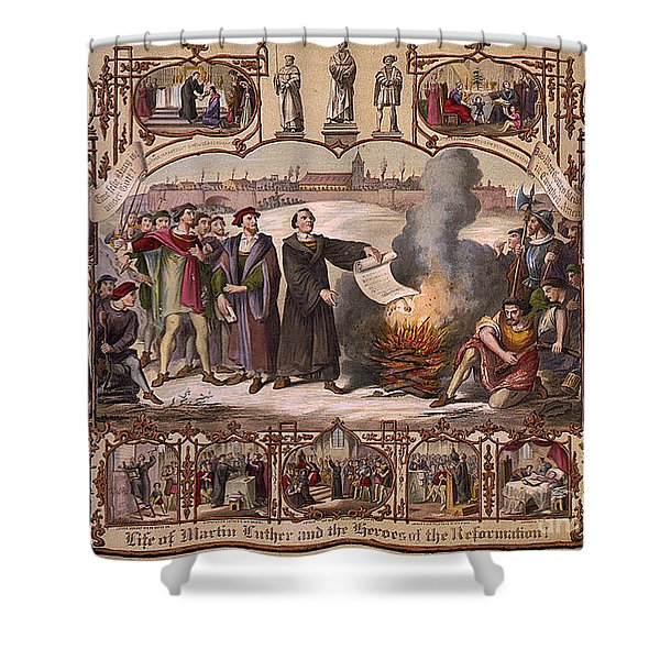 Life Of Martin Luther And Heroes Shower Curtain