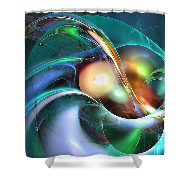 Limbo Of Oblivion Abstract Art Shower Curtain