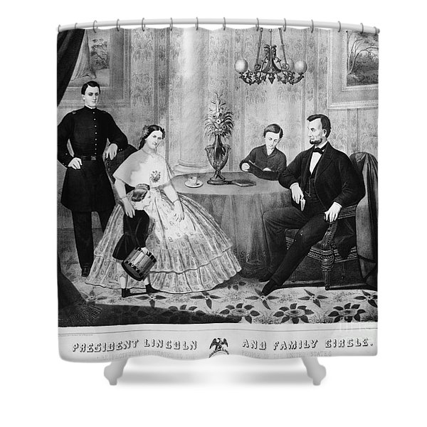 Lincoln & Family Shower Curtain