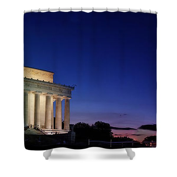 Lincoln Memorial At Sunset Shower Curtain