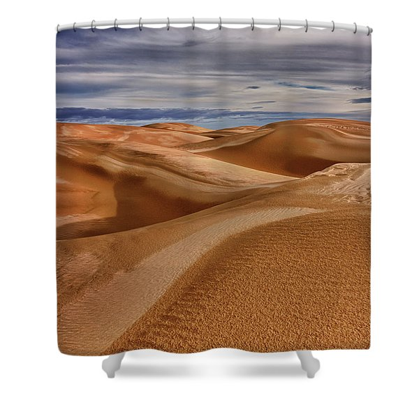 Lines To Infinity Shower Curtain