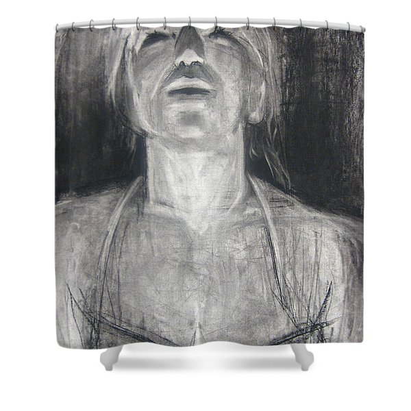 Shower Curtain featuring the drawing Lit by Gabrielle Wilson-Sealy