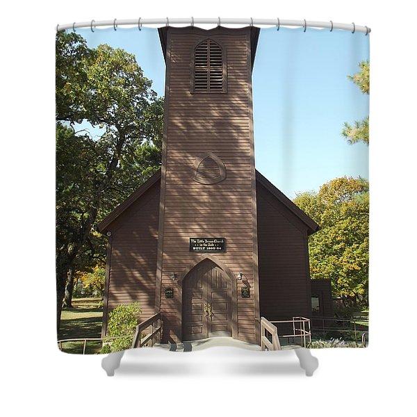 Little Brown Church Shower Curtain