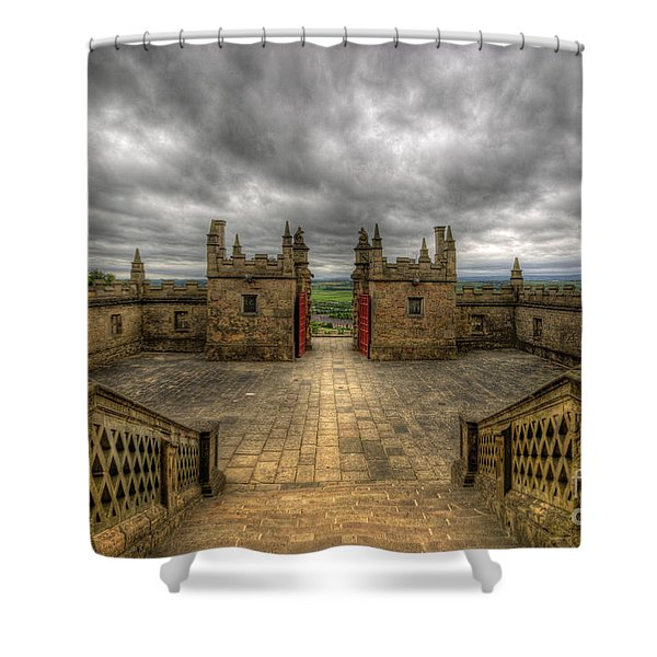 Little Castle Entrance - Bolsover Castle Shower Curtain