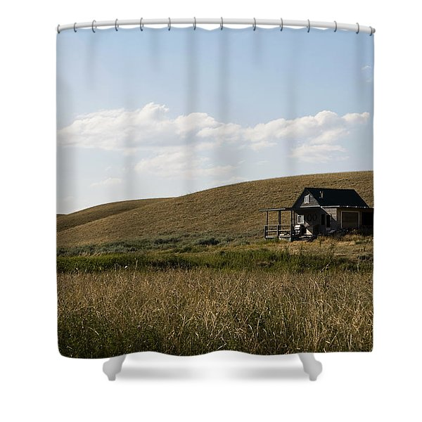 Shower Curtain featuring the photograph Little House On The Plains by Lorraine Devon Wilke