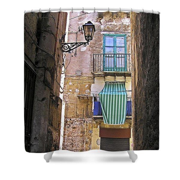 Little Street Of Palermo Shower Curtain