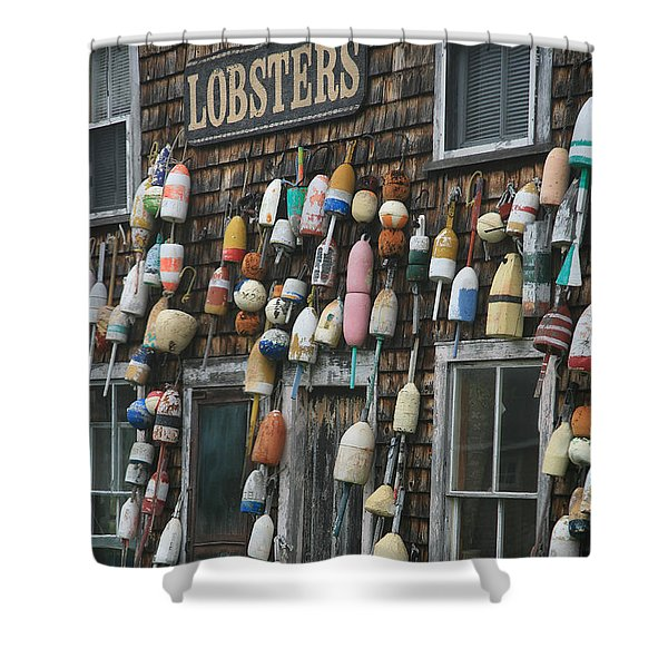 Lobster Buoys Shower Curtain