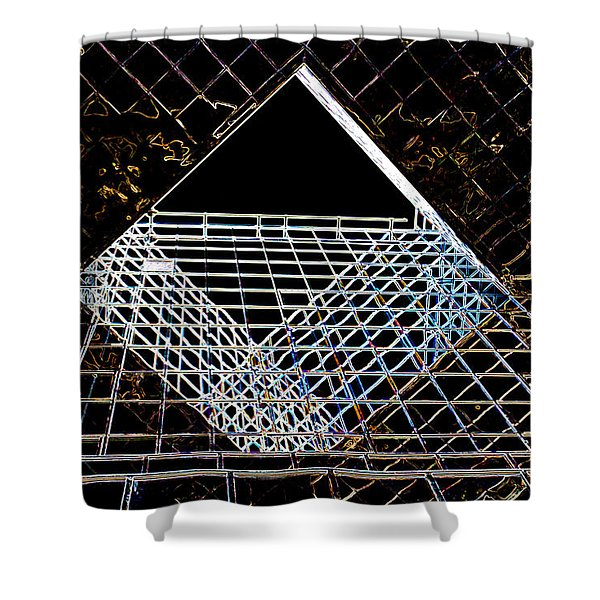London Southbank Abstract Shower Curtain