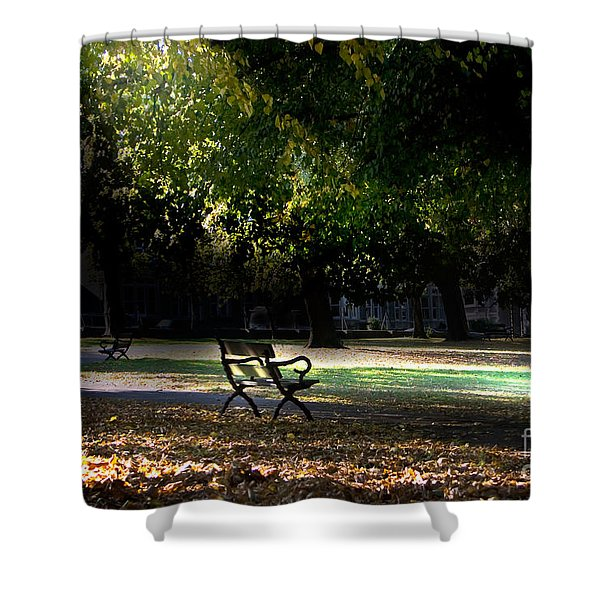 Lonley Park Bench Shower Curtain
