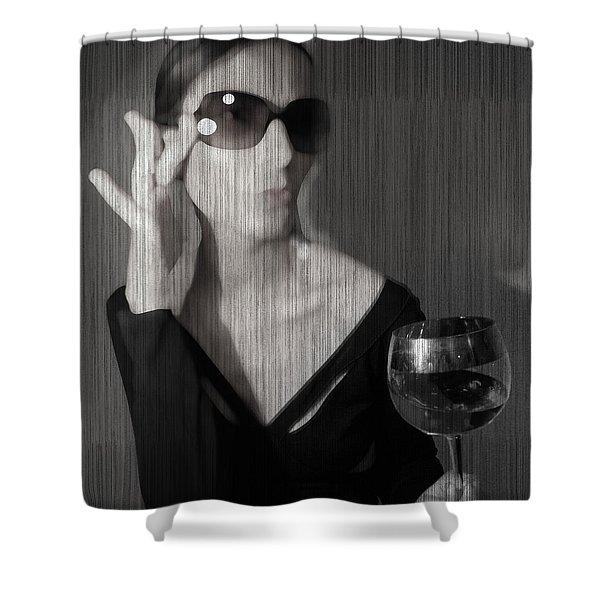 Loren With Wine Shower Curtain
