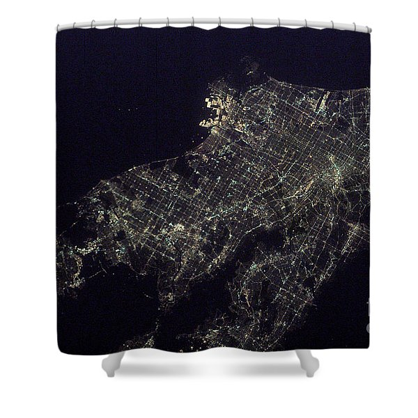Los Angeles At Night Shower Curtain