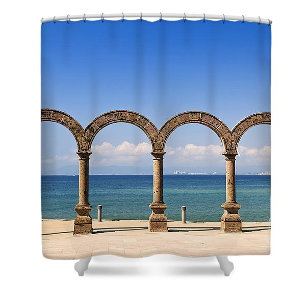 Los Arcos Amphitheater In Puerto Vallarta Shower Curtain