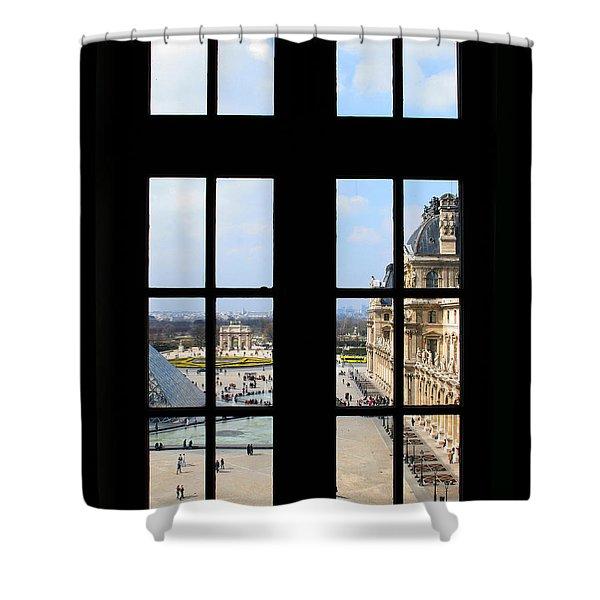Louvre Window Shower Curtain