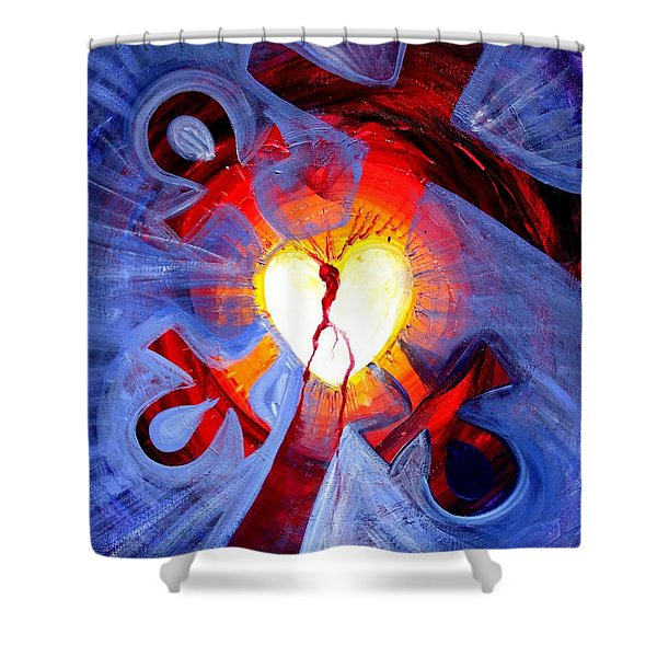 Love - In Three ... For All Shower Curtain