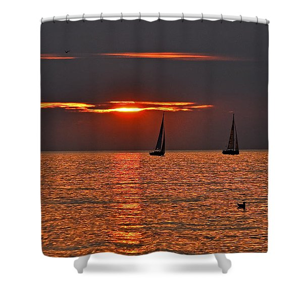 Coral Maritime Dream Shower Curtain