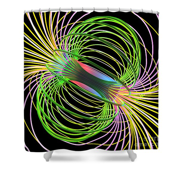 Magnetism 5 Shower Curtain